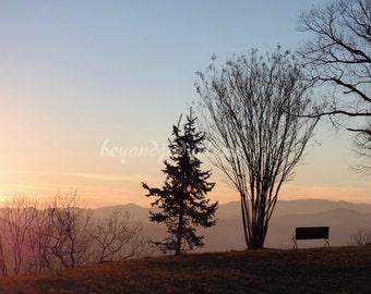 Blue Ridge Mountains Sunset photograph digital download