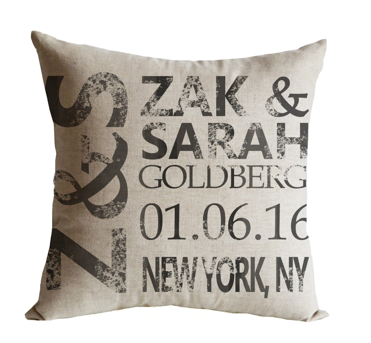 Wedding Pillow Wedding Gift for Couple Personalize by AmoreBeaute