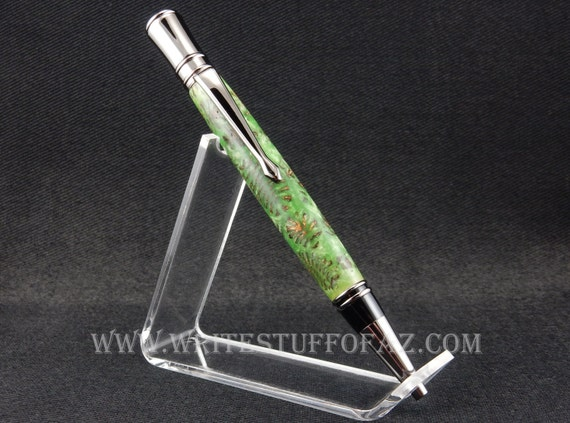Parker Duofold inspired - Executive Twist Pen in Pine Cone Green
