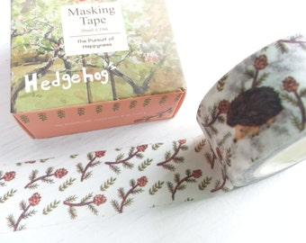 Lovely Hedgehog Washi / Masking Tape - 20mm x 10M