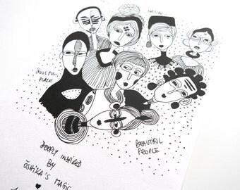 OSHIKA'S MAGIC A4 Art Print