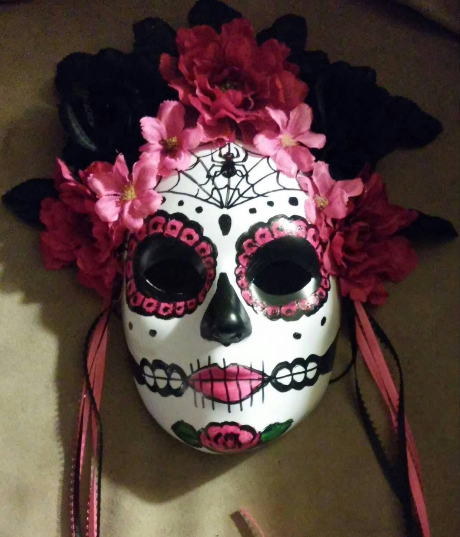 Sugar skull mask Hand Made Day of the Dead/ Mardi Gras