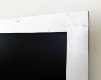 Extra Large Framed Chalk Board Reclaimed Wood Shown in Pure White 30 x 40 *MORE COLORS AVAILABLE*