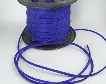 Indigo Faux Suede Cord 20 Feet USA Seller