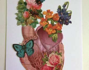 Anatomical Heart collage #4