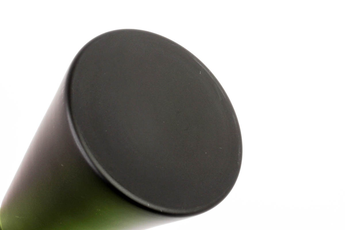 Cone Shaped Glass Vase: Black Satin Glass Lidded Vase 13 Cone Shaped