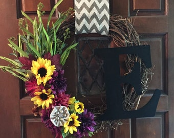 Fall wreath, made to order
