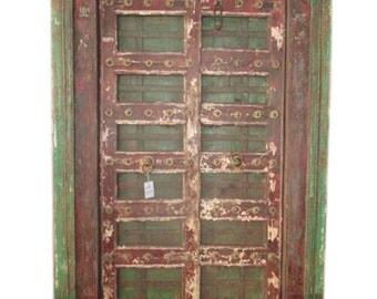 Mogulinterior Antique Doors India Hand Carved Teak Jaipur Doors & Frame Spanish Moroccan Mediterranean FREE SHIP