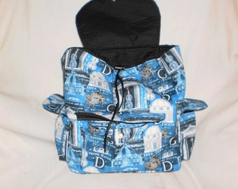 Blue Music backpack