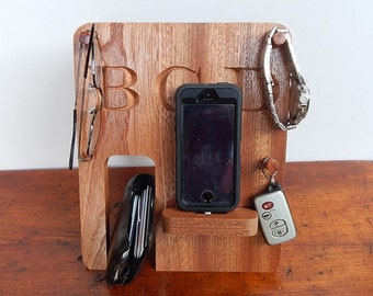 Sapele Phone Docking Station - for Megan