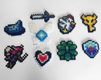Legend of Zelda Accessories Perler Bead Sprites