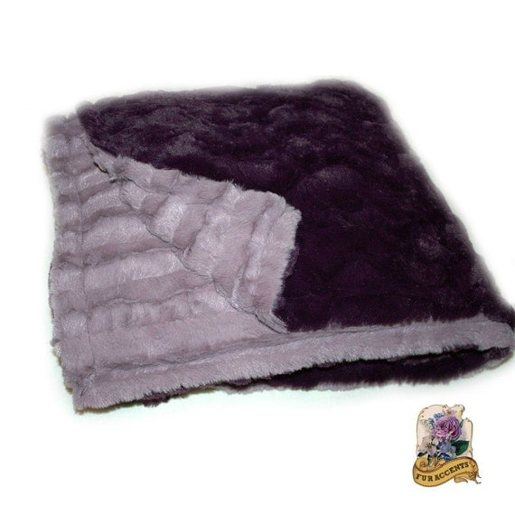 plush minky cuddle fur throw blanket softest mink by furaccents. Black Bedroom Furniture Sets. Home Design Ideas