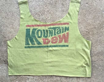 Vintage Inspired Mountain Dew Crop Top