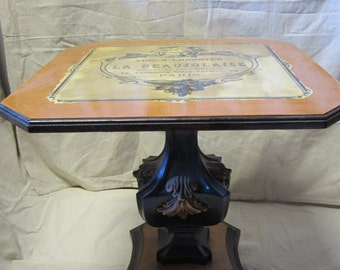 1950's table with wine label