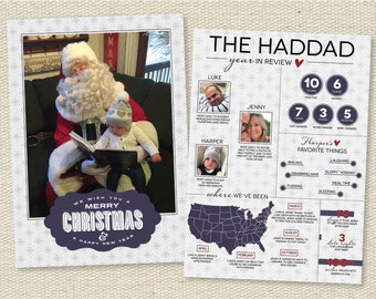 """Custom Photo Christmas Holiday Photo Card Year in Review - """"Your Best Year Yet"""""""