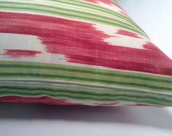 Watermelon Ikat Pillow Cover