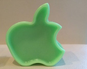 GREEN APPLE- solid sugar scrub- Cleanse and exfoliate-2 in one- smells awesome -3 oz-  novelty soap scrub