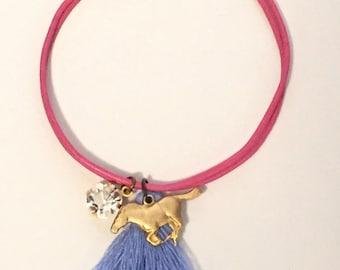 handmade leather charm bracelet - rider