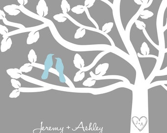 Lovebirds in Tree - Wedding Print