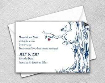 Save the Date Magnet + Envelope - Wedding magnets - KISSING Design