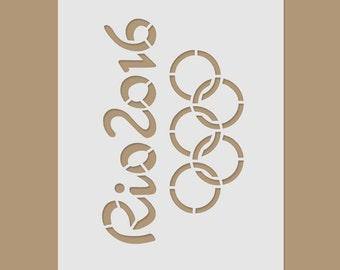 Rio 2016 Stencil - Olympic Games