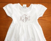 Monogram Baby Girl Top