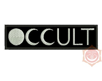 occult moon embroidered patch occult esoteric shadow magic