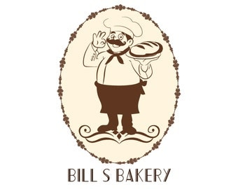 Custom logo design, chef bakery logo design, pastry cupcake logo, bread  logo, patisserie logo design, business logo design, chef logo