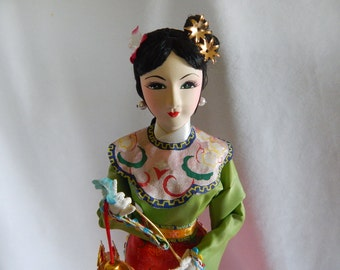 Vintage Geisha Sponge Body Doll