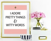 Kate Spade Inspire WallArt Printable || Witty Word Wallart Printable