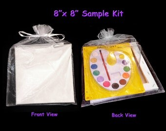 Art Party Supply  or Blank Canvas Kit for Paint Party Favor- 3 piece set