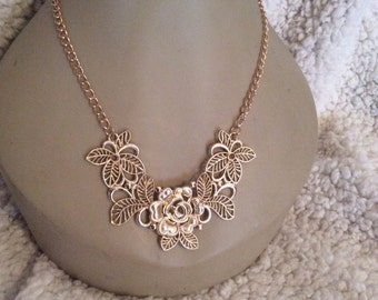 Gold toned necklace 22 in