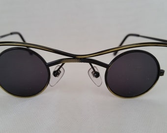 Vintage Funky Small Round Specs. Cool Round Sunnies. Antique Color Round Funky Sunglasses, Perfectly Round Small Sunglasses.