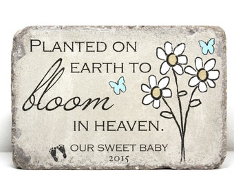 Miscarriage Memorial Stone. PERSONALIZED Gift. 6x9 Tumbled (Concrete) Paver. Baby Remembrance Stone. Planted on Earth. Infant Loss Gift