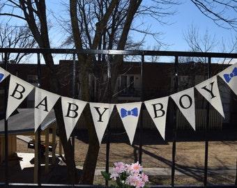 Baby Shower Burlap Banner - Baby Shower -  baby Boy  Shower decor  Baby birth - Baby Announcement