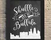Buffalo NY Wall Art, Buffalove, Buffalonian, Western New York, WNY Gift, Buffalo NY Print, 716, Queen City, Buffalo Print, Buffalo ny Decor