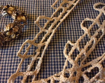 A big rustic old lace lace hemp