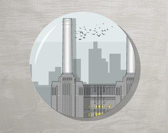 End of Line SALE! London Bottle Opener Magnet - Battersea Power Station
