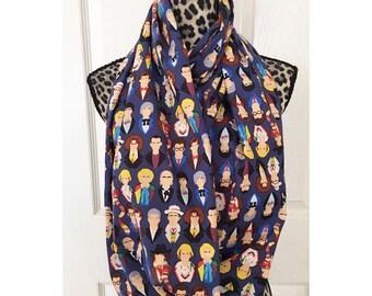 Twelve Doctors infinity scarf