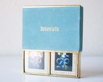 Vintage Tiffany and Co. blue box playing cards decks