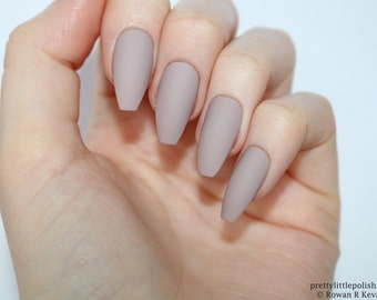 Acrylic nails etsy matte mocha coffin nails nail designs nail art nails stiletto nails prinsesfo Image collections