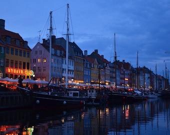 Late Summer's Eve, Nyhavn Harbor, Copenhagen, Denmark