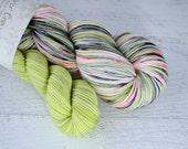 Dragonfruit heel/toe sock set - superwash merino/nylon sock yarn (463 yd skein w/matching 100 yd skein)