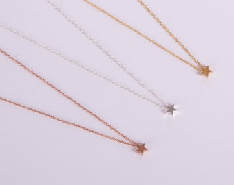 Silver Rose Gold Or Gold Plated Necklace Star  Filigree Necklace Starlet  Jewelry Choose your Colour