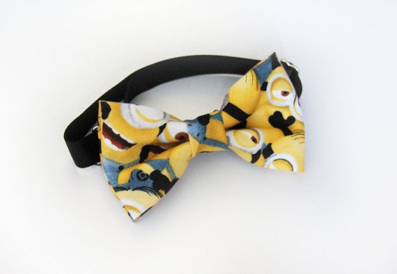 minion bow tie for babies toddlers boys adults