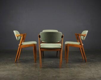 4 Dining Chairs Kai Kristiansen Model 42 Danish Modern Mid Century Modern