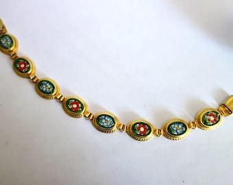 SALE Vintage Micro Mosaic Bracelet NOW 69  WAS 75