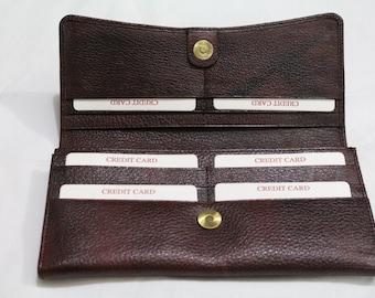 Ladies Leather Wallet in Brown