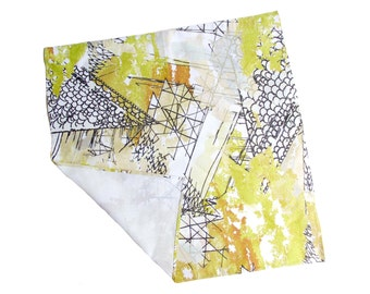 Industrial Pattern Cotton Bandana Digitally Printed