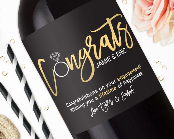 Wedding Engagement Gift: Congratulations Engagement Wine Labels Engagement Gifts For